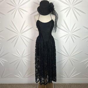 Betsey Johnson Vintage Corset Lace Dress Punk Labe